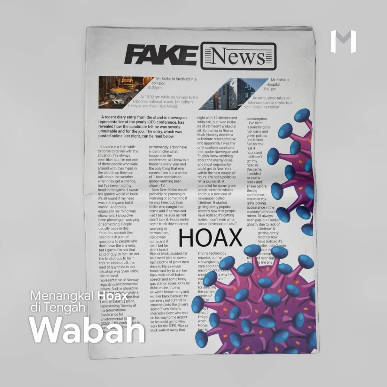 Menangkal Hoax di Tengah Wabah
