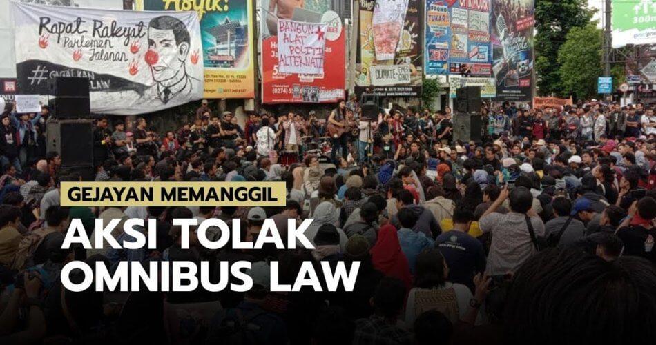 Gerakan Jalanan - Aksi Tolak Omnibus Law