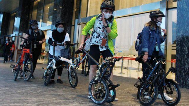 Bersepeda Untuk Kesenangan, Inilah Tipe-tipe Pesepeda di Kala Pandemi- AntaraFoto: Muhammad Iqbal