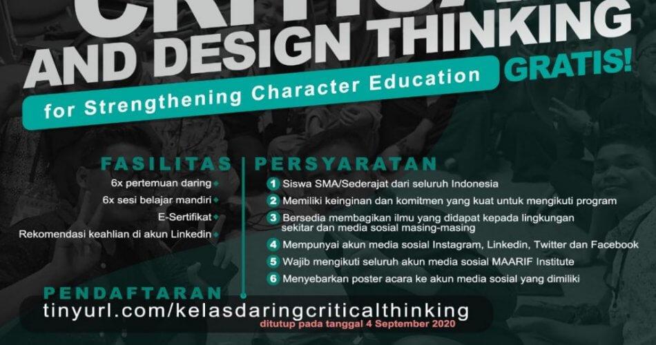 Critical Design & Design Thinking Ma'arif Institute